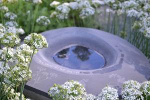 Birdbath in the garden