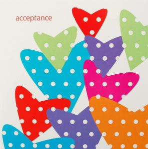 Acceptance with hearts
